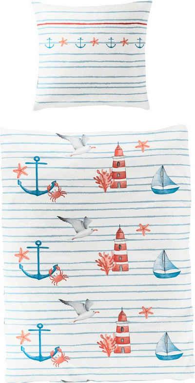 Bettwäsche »Sea Breeze«, BIERBAUM, mit maritimen Motiven