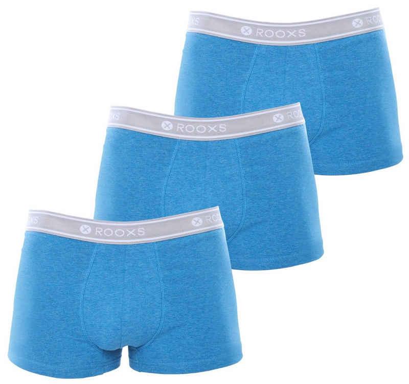ROOXS Boxershorts »Herren Unterhosen Männer Unterwäsche Slip Eng« (3 Stück) aus weicher Baumwolle
