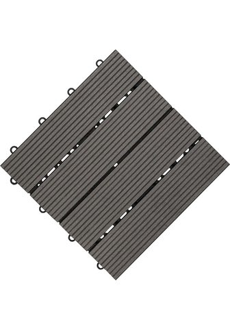 florco ® Terrassenplatten 30x30 cm 6-St. Klic...