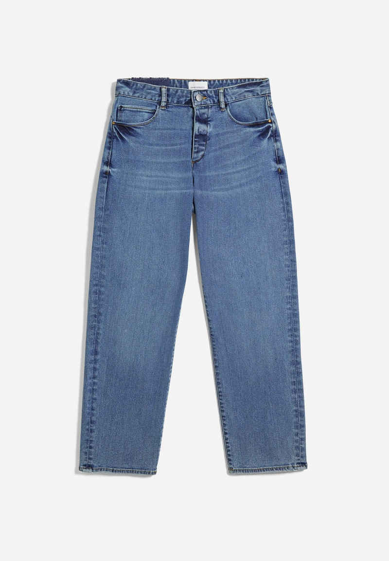 Armedangels Straight-Jeans »FJELLAA CR. CIRCULAR Damen Straight Fit Mid Waist« (1-tlg)