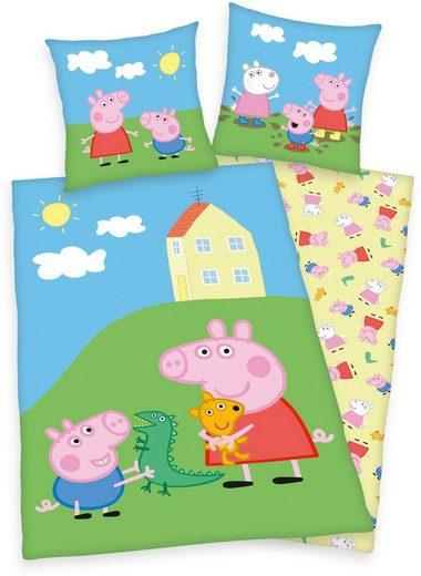 Kinderbettwäsche »Peppa Pig / Peppa Wutz«, mit fröhlichem Peppa Pig-Motiv