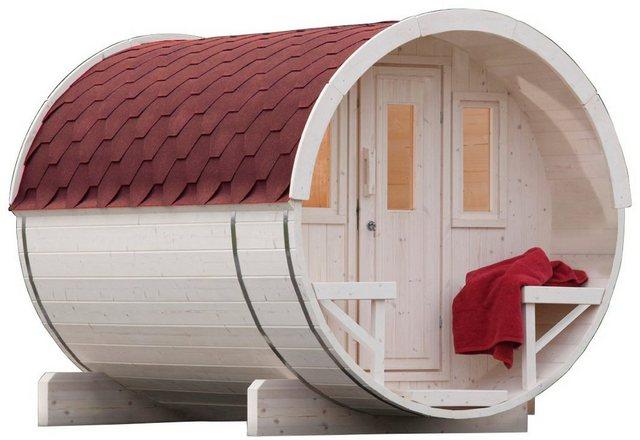 Saunen und Zubehör - WOLFF FINNHAUS Fasssauna »280«, 205 280 210 cm, rote Schindeln, ohne Ofen  - Onlineshop OTTO