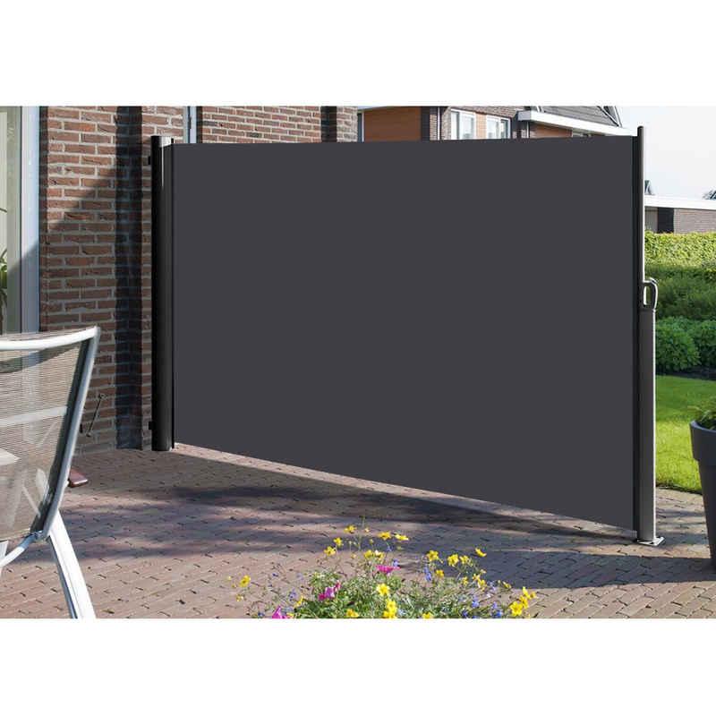 SONGMICS Seitenmarkise »GSA185 GSA205 GSA165« Sonnenschutz, 1,6 x 3,5 m (H x L), für Balkon, Terrasse und Garten, grau