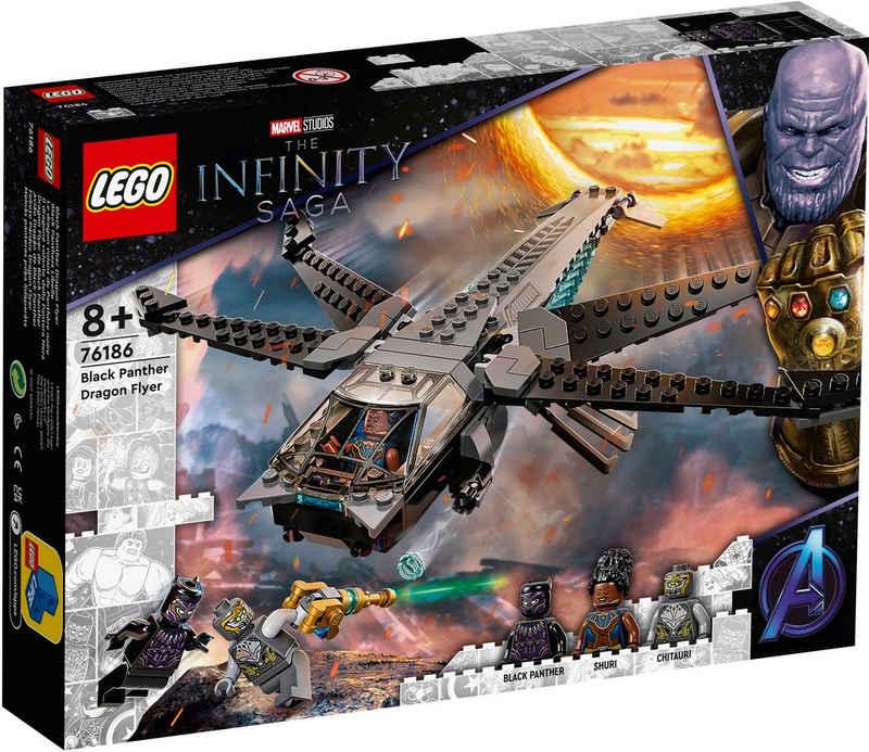 LEGO® Konstruktionsspielsteine »Black Panthers Libelle (76186), Marvel Avengers Movie 4«, (202 St), Made in Europe