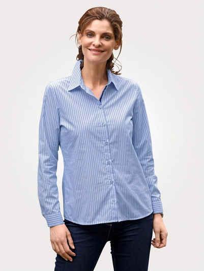 Mona Hemdbluse mit Streifendruck