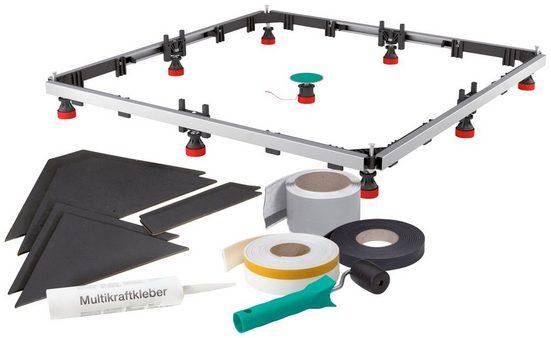 Komplett-Set: Montagesatz »SF Rechteck 100/100 Acryl«, für extraflache, rechteckige Acrylduschwannen