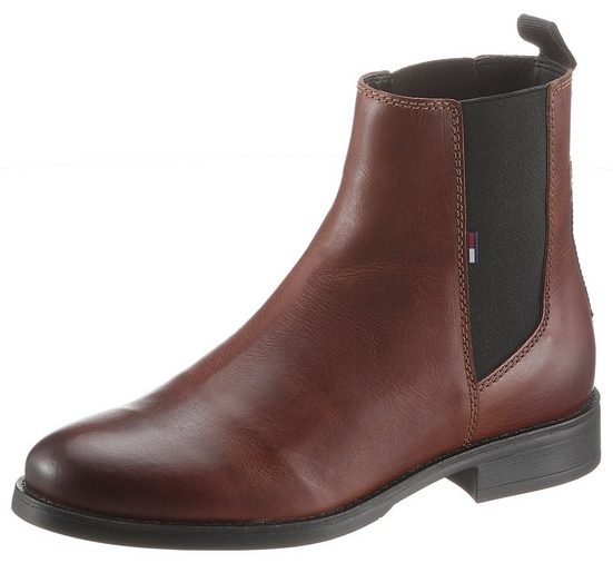 TOMMY JEANS »ESSENTIAL DRESSED CHELSEA BOOT« Chelseaboots mit Tommy Jeans Schriftzug hinten