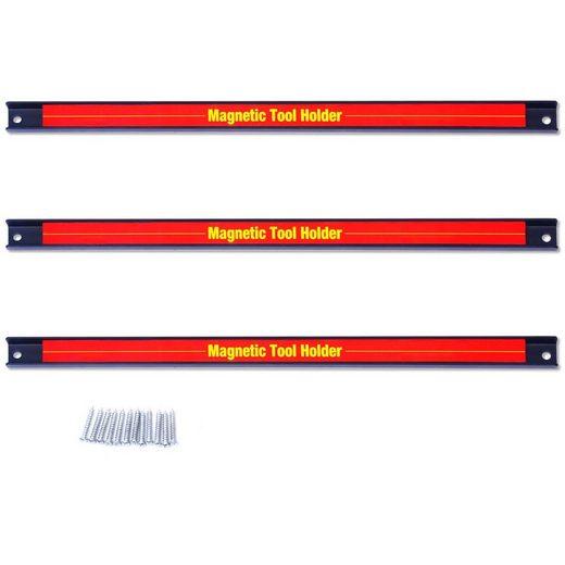 COSTWAY Magnet-Werkzeugleiste »Magnetleiste, Werkzeughalter, Werkzeug Halterung«, 3-tlg., 3 x 46cm