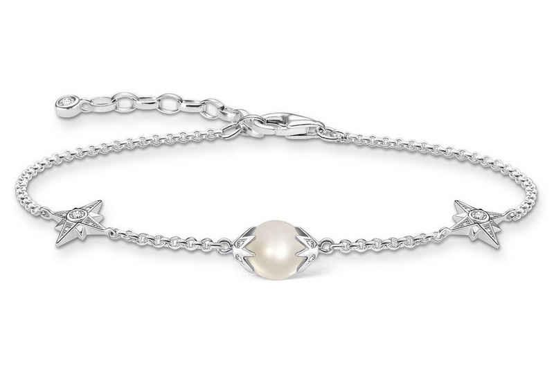 THOMAS SABO Gliederarmband »Perle mit Sternen«