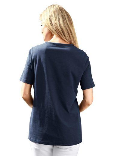 Classic Basics Shirt mit schmückendem, platziertem Druck