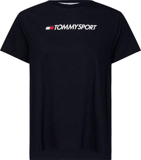 TOMMY SPORT T-Shirt »COTTON MIX CHEST LOGO TOP« Basicform mit trendigem Logoprint
