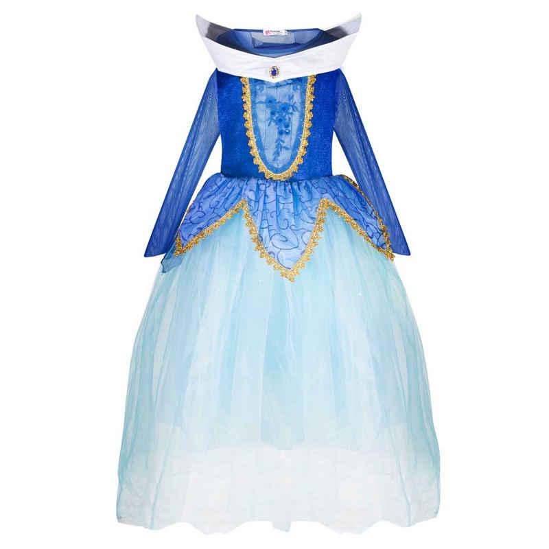 Katara Prinzessin-Kostüm »Aurora Kleid blau«