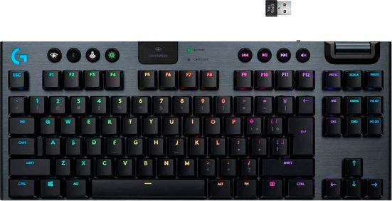 Logitech G »Gaming Tastatur G915 TKL White tactile« Gaming-Tastatur