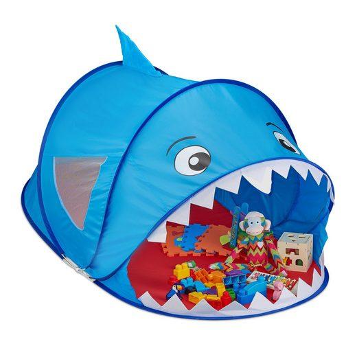 relaxdays Spielzelt »Pop Up Spielzelt Hai«