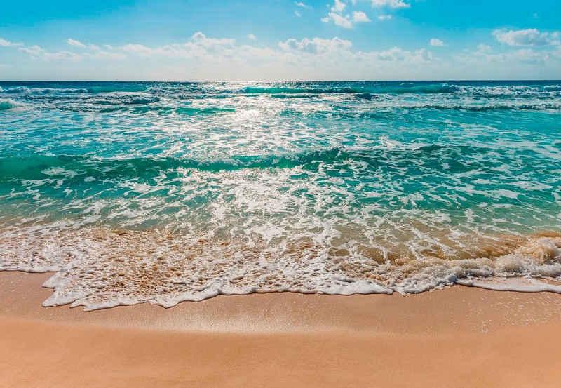 Komar Fototapete »Seaside«, glatt, bedruckt, Meer, Strand, (Set), ausgezeichnet lichtbeständig