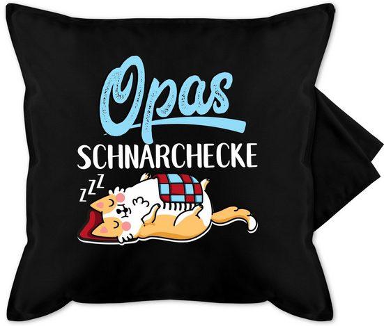 Shirtracer Kissenbezug »Opas Schnarchecke - weiß/blau - Bedruckte Kissenhülle Kissen ohne Füllung«