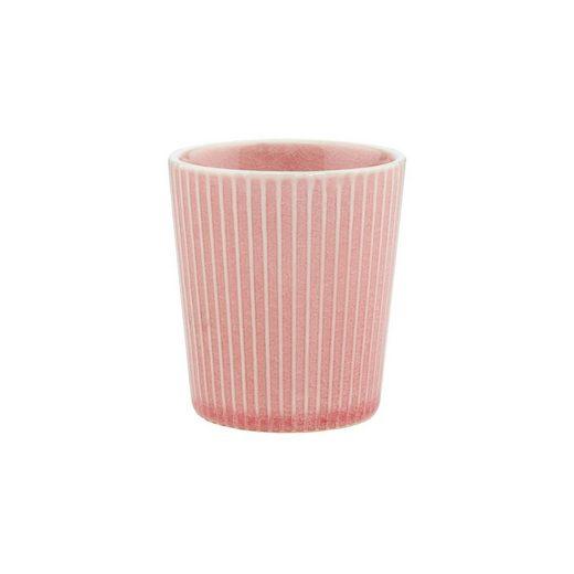 BUTLERS Tasse »HANAMI 6x Teetasse Streifen 200ml rosa«, Steinzeug