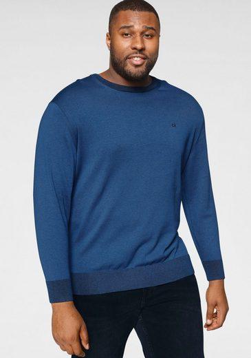 Calvin Klein Big&Tall Rundhalspullover »BT-COTTON SILK C-NECK SWEATER«