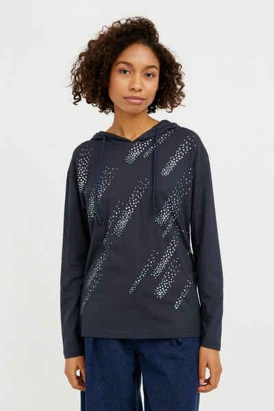 Finn Flare Kapuzensweatshirt mit trendigem Print