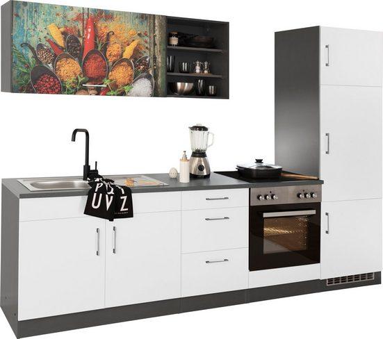 HELD MÖBEL Küchenzeile »Paris«, ohne E-Geräte, Breite 270 cm