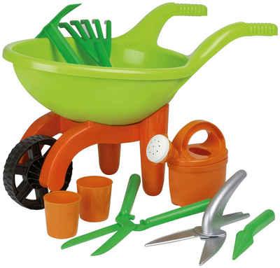 SIMBA Kinder-Gartenset, (Set, 9-tlg), Schubkarre mit Gartenwerkzeug
