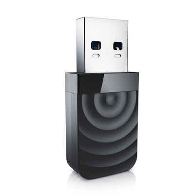 CSL WLAN-Dongle, WLAN USB Stick 1300 Mbit/s - Dual Band WiFi Dongle MU MlMO Technik - USB 3.2 Gen1