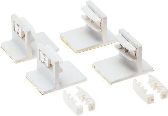 Klebeträger, K-HOME, Plissees, (Set, 4-tlg), für die Befestigung von verspannten Plissees auf dem Fensterrahmen