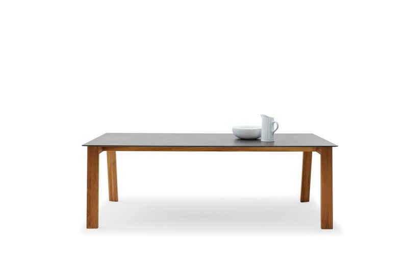 Musterring Gartentisch, Designtisch France 200x100 / 76 cm Granit