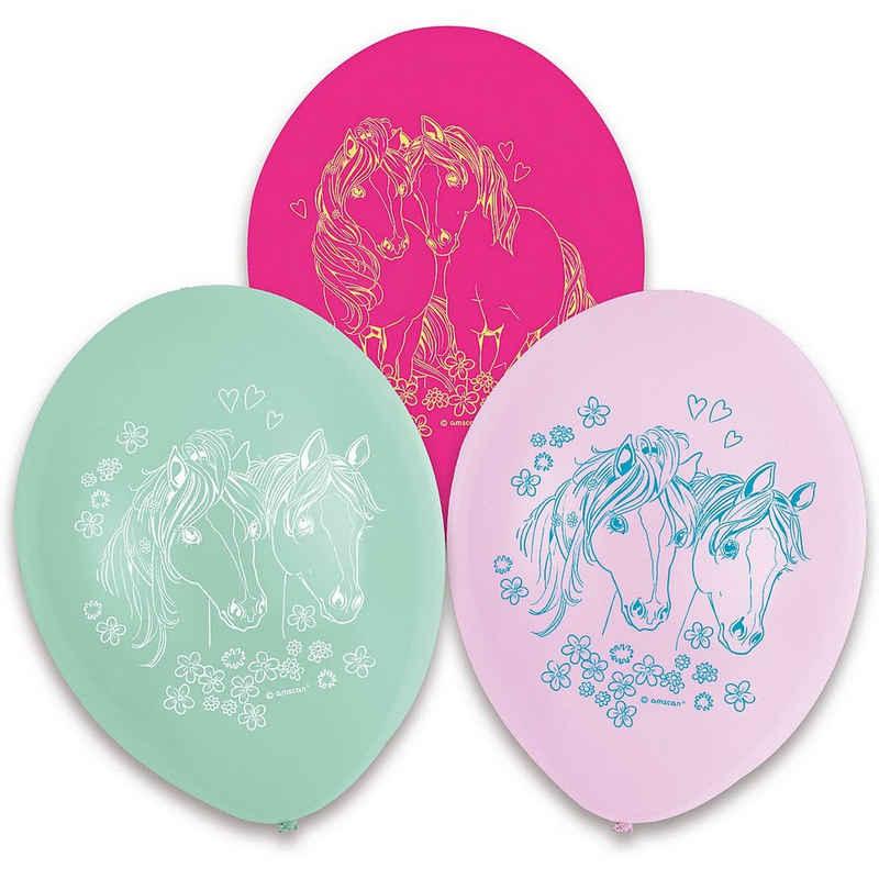 Riethmüller Luftballon »6 Pretty Pony Latexballons 1-seitiger Druck 22,8«