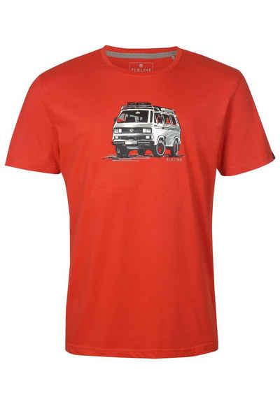 Elkline T-Shirt »Gassenhauer« VW Bulli Brust Print lizenziert