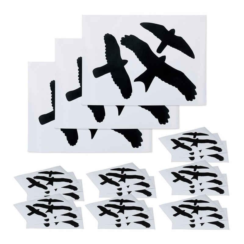 Fenstersticker »72 x Vogelaufkleber«, relaxdays