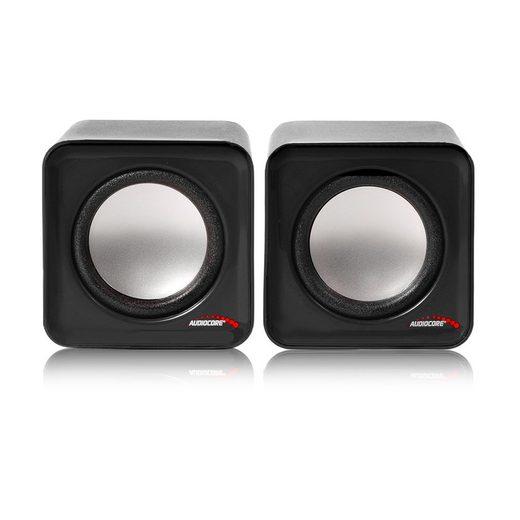 Audiocore AC870 Stereo, 2.0 PC-Lautsprecher (6 W, Lautstärkeregelung)