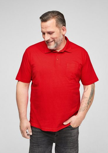 s.Oliver Men Big Sizes Kurzarmshirt »Poloshirt aus Baumwolle« (1-tlg)