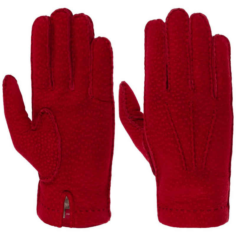 Caridei Lederhandschuhe Handschuhe mit Futter, Made in Italy