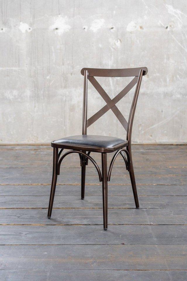 KAWOLA Esszimmerstuhl »KINE« Stuhl Metall Kupfer   OTTO