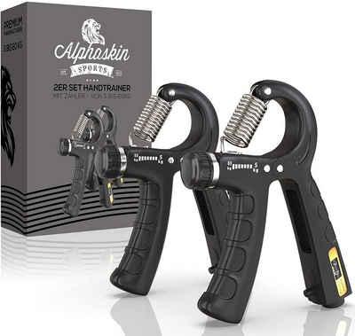ALPHASKIN© Handmuskeltrainer »Handtrainer Fingerhantel mit Zähler« (2-St)