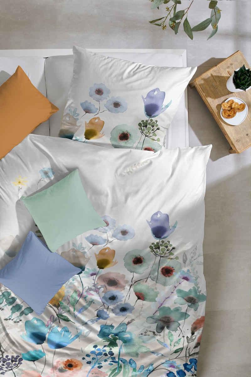 Bettwäsche »Edelflanell-Bettwäsche Baumwolle mit Reißverschluss«, Giancasa, mit Reißverschluss