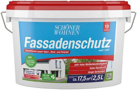 SCHÖNER WOHNEN FARBE Fassadenweiss »Fassadenschutz 2,5L«, hoch wetterbeständig und wasserabweisend