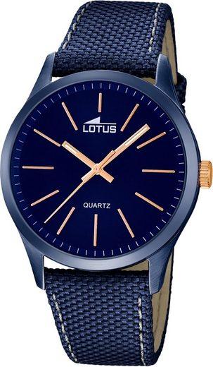 Lotus Quarzuhr »D2UL18166/2 Lotus Leder Herren Uhr L18166/2«, (Quarzuhr), Herrenuhr mit Leder/Textilarmband, rundes Gehäuse, groß (ca. 42,1mm), Elegant-Style