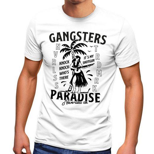Neverless Print-Shirt »Herren T-Shirt Gangsters Paradise Printshirt T-Shirt Rapper Rap Fashion Streetstyle Neverless®« mit Print