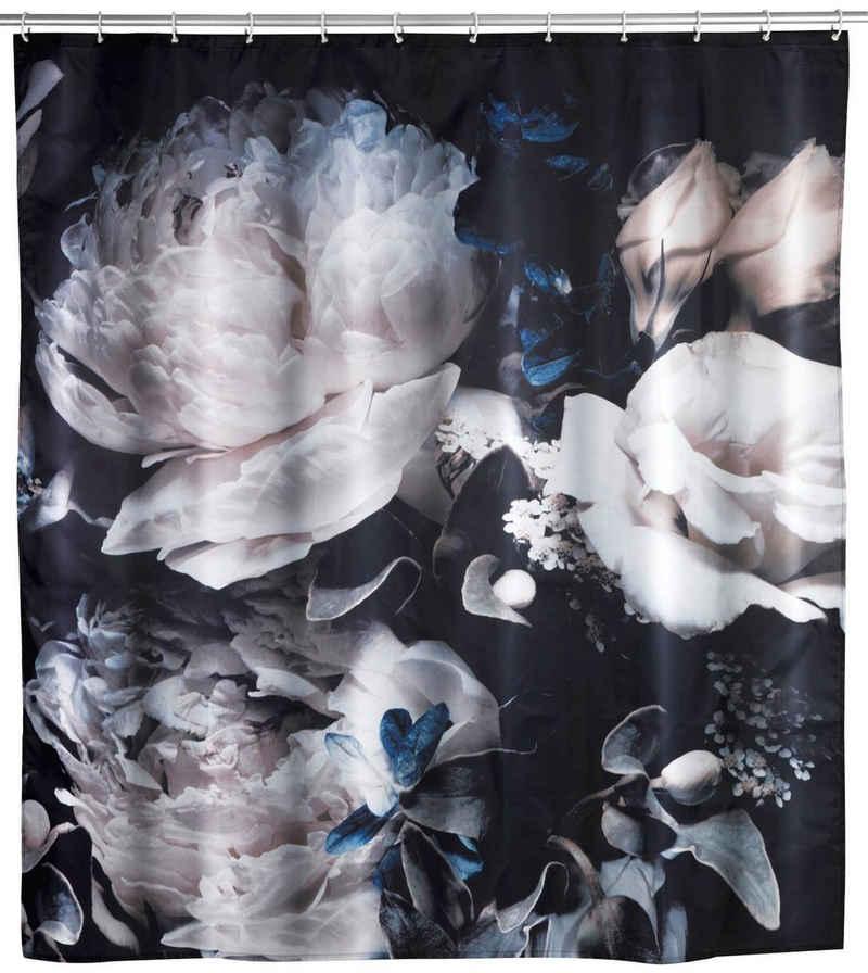 WENKO Duschvorhang »Peony« Breite 180 cm, Höhe 200 cm, Textil (Polyester)