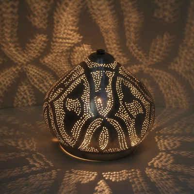 Casa Moro Nachttischlampe »Orientalische Stehlampe Qahira D22 Silber aus Messing, Handmade Tischlampe wie aus 1001 Nacht, ESL2075«