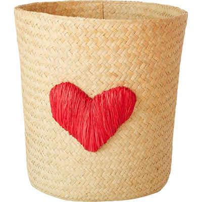 "rice Dekokorb »Bastkorb ""Heart Embroidery"", Ø26cm«"
