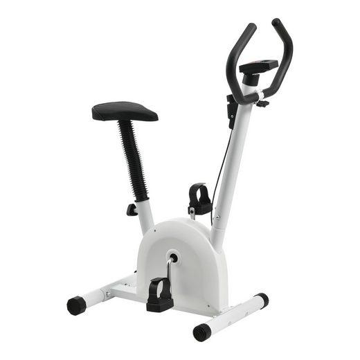 Pro-tec Sitz-Heimtrainer, Fittnes Fahrrad Trimmrad mit LCD-Display