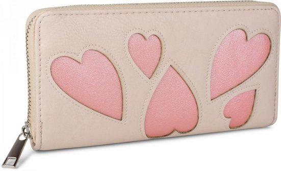 styleBREAKER Geldbörse »Geldbörse mit Herz Cutout«, Geldbörse mit Herz Cutout