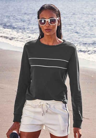 H.I.S Sweatshirt mit Piping auf der Brust