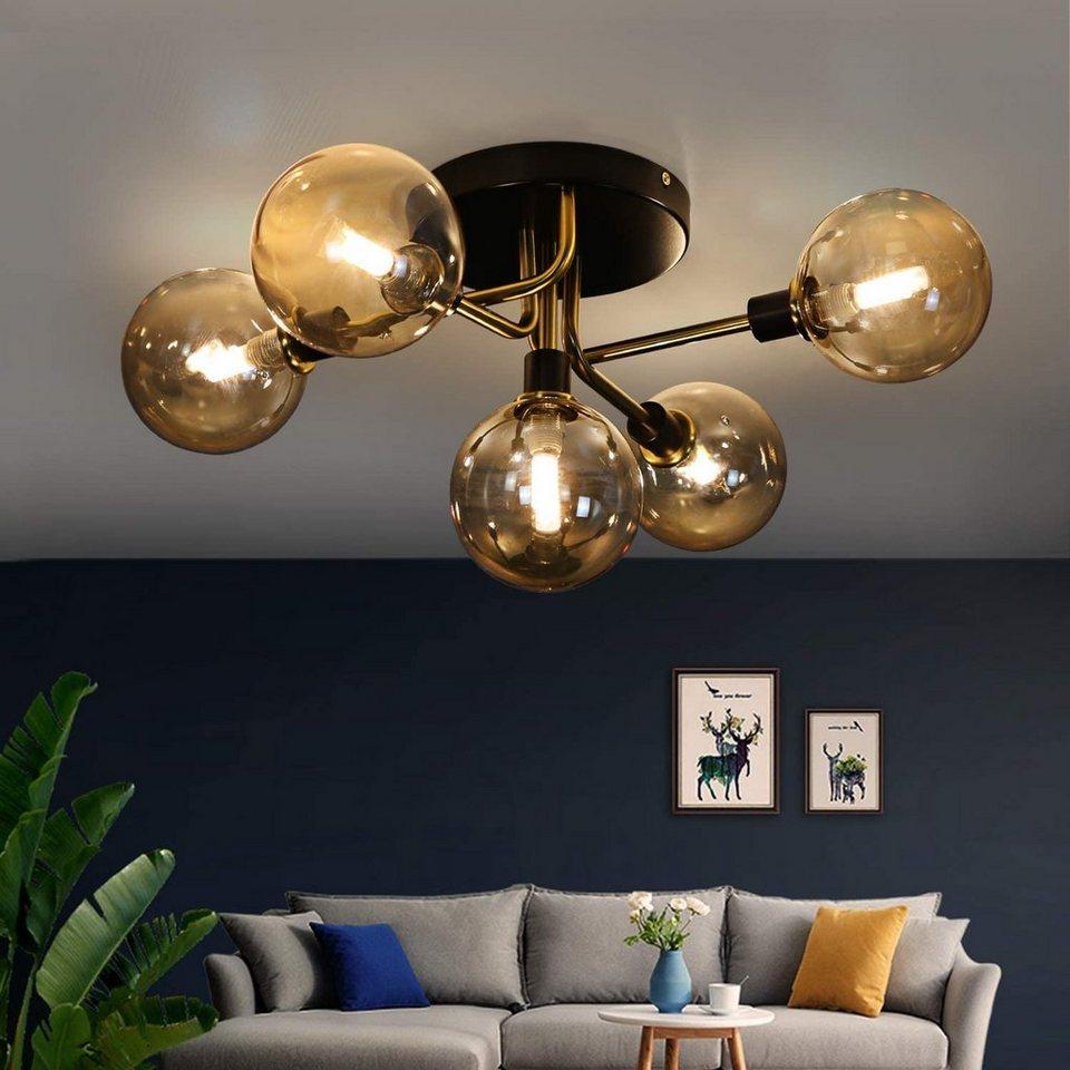 ZMH Deckenleuchte »Glas Kugel deckenlampe Wohnzimmerlampe  Schlafzimmerleuchte Innenleuchte Kronleuchte« online kaufen  OTTO