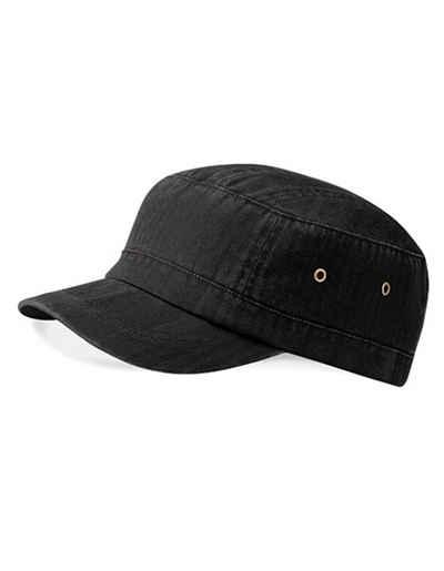 Beechfield® Army Cap »Military Style Cuba Kappe« 100 % schwere, gewaschene Baumwolle
