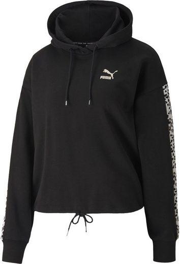 PUMA Kapuzensweatshirt »Classics Cropped Hoody AOP«