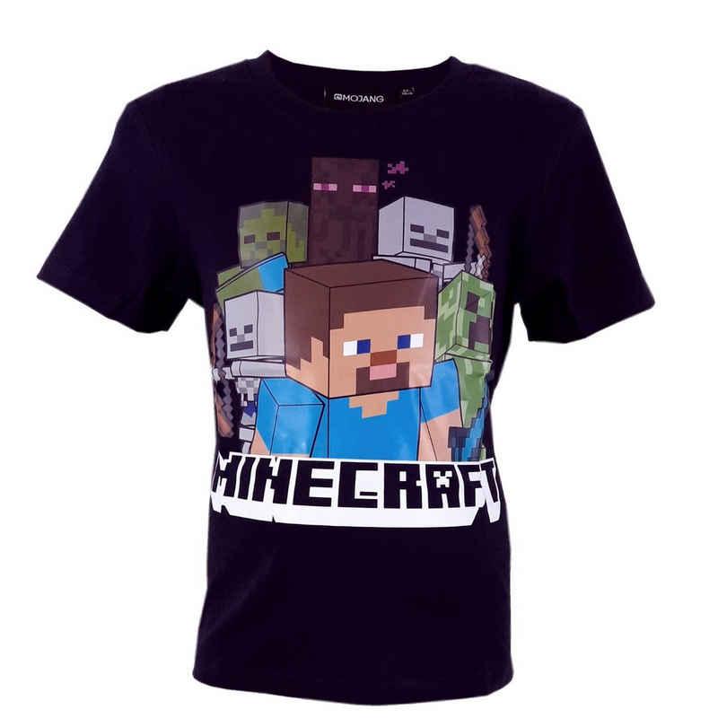 Minecraft T-Shirt »Steve Kinder Shirt« Größe- 128, 100% Baumwolle